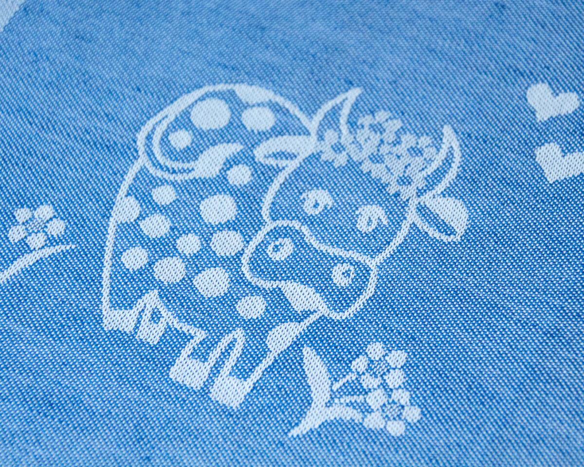 GT Halbleinen blau Kuh