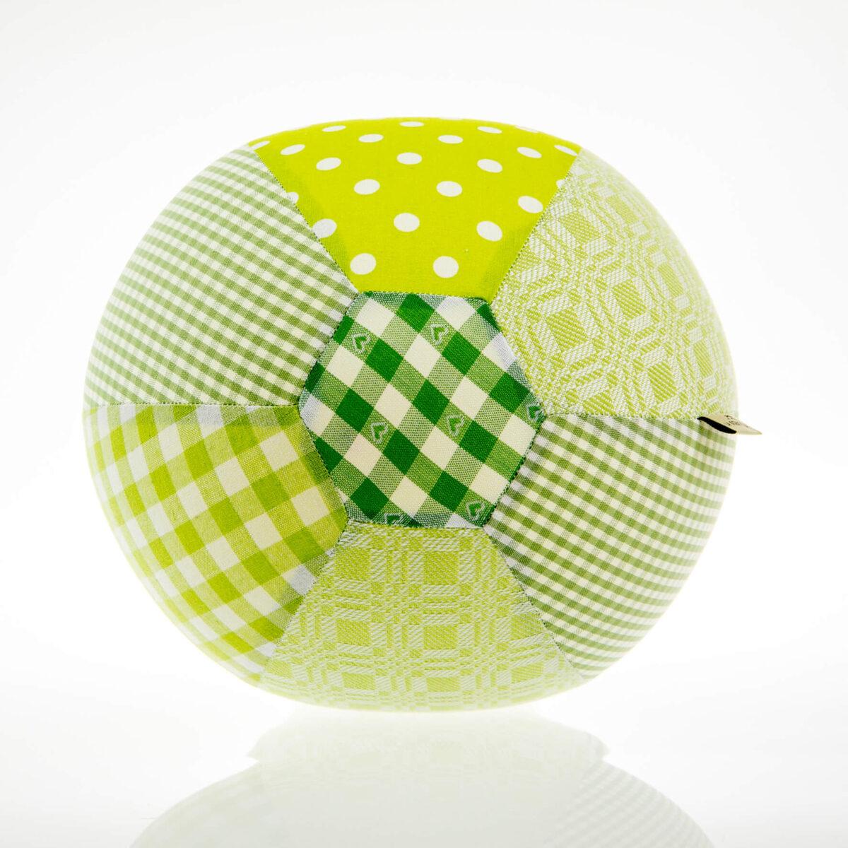 Grüner Luftballon von oben