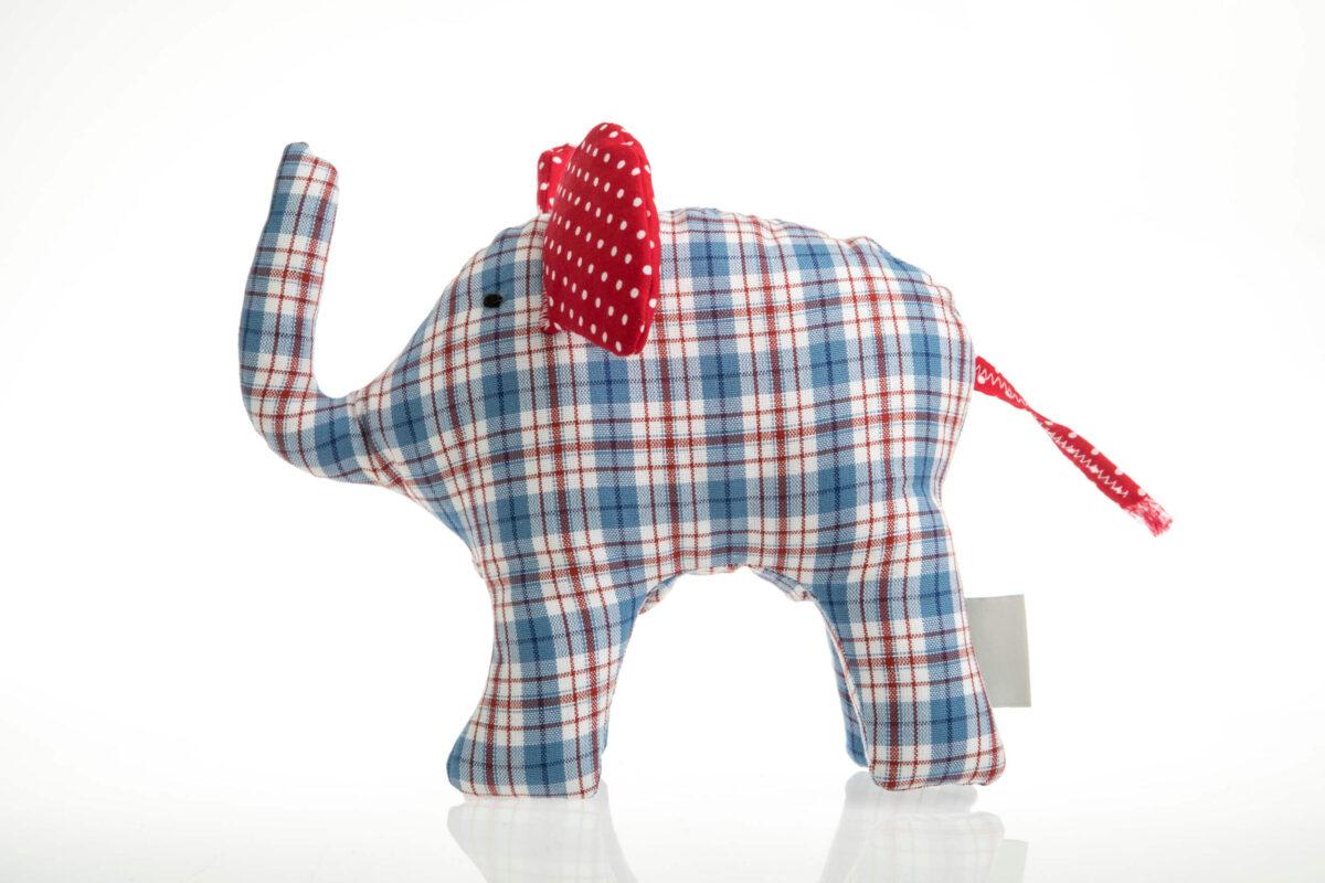 Elefant blau/rot