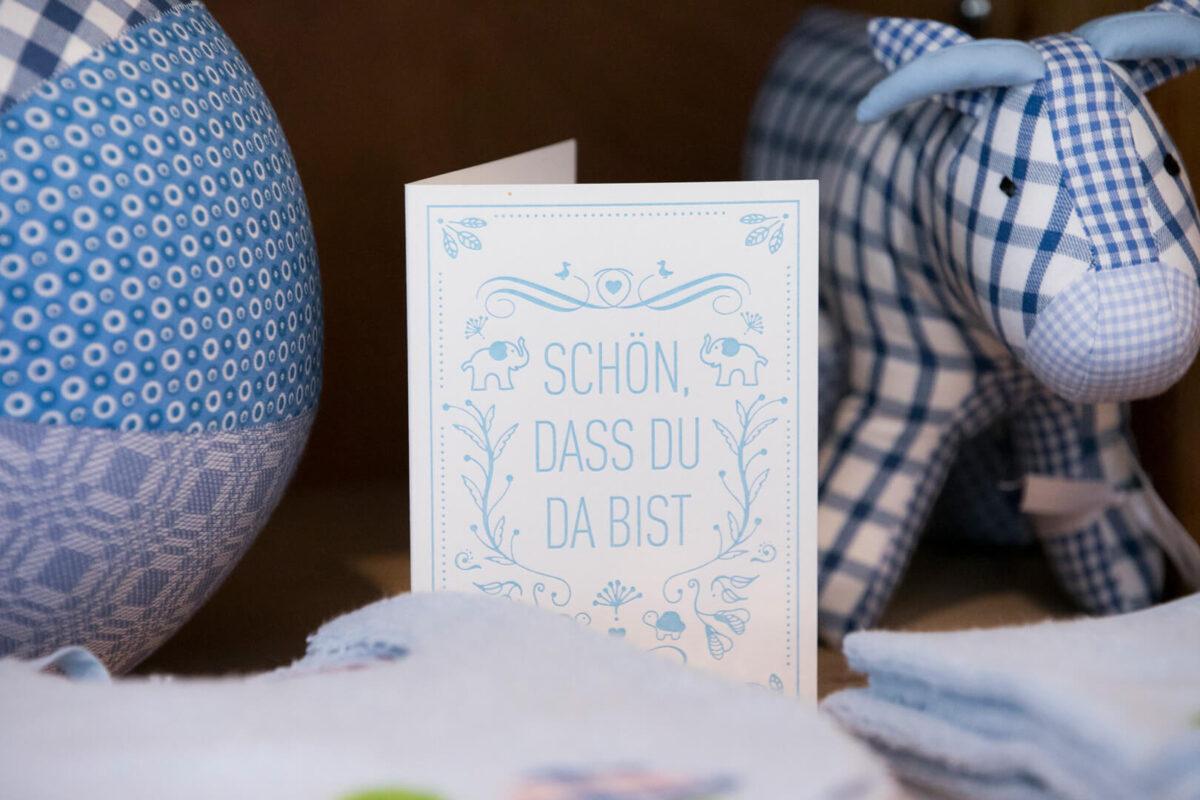 Geschenkkarte blau Kontext