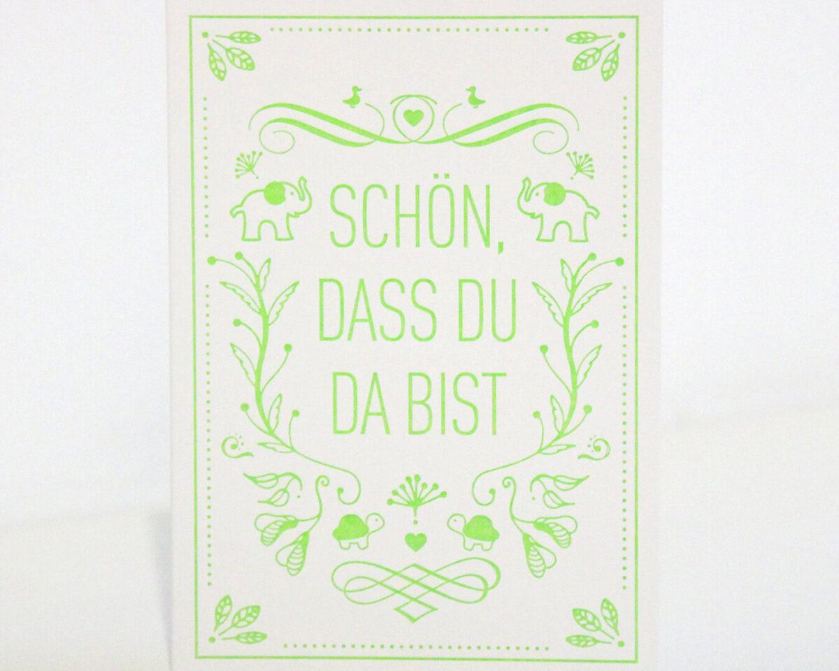 Geschenkkarte grün