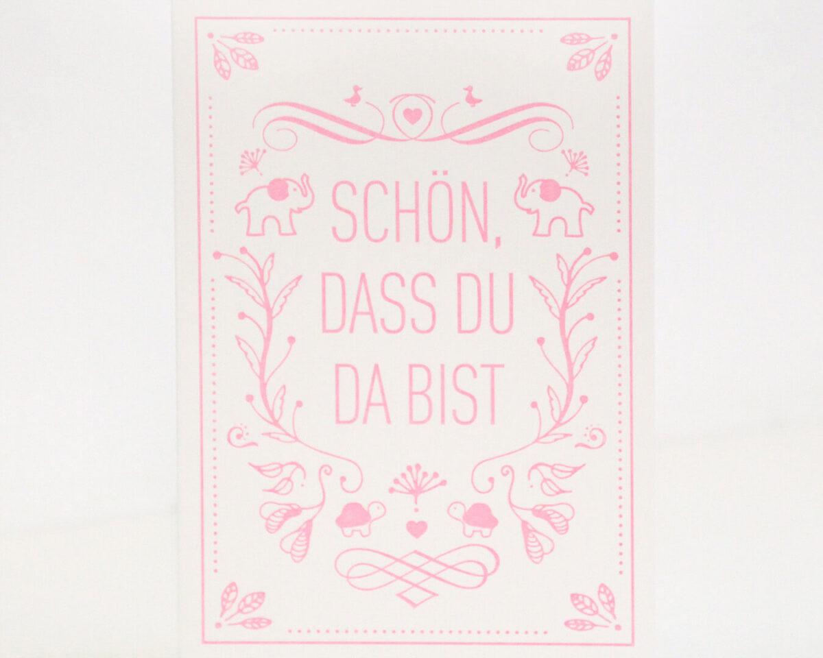 Geschenkkarte rosa