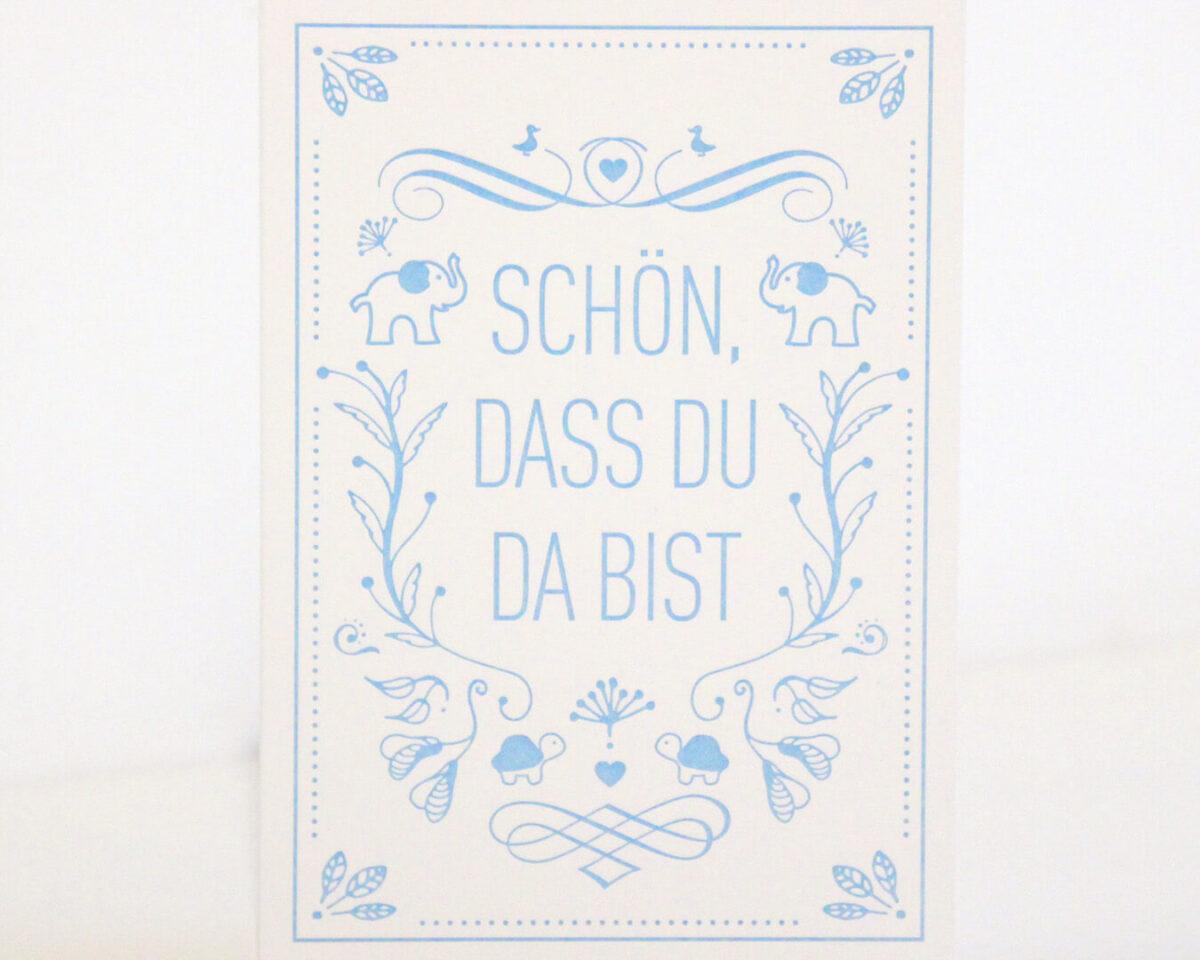 Geschenkkarte blau