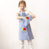 Schürze Kind blau