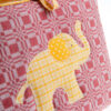 Tasche rot mit gelben Elefant