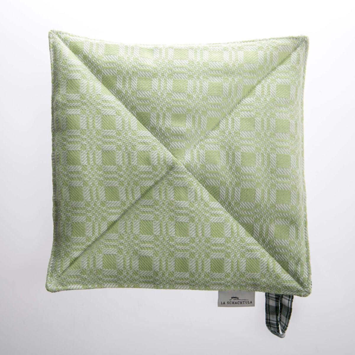 Topflappen grün